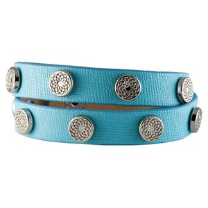 Picture of Turquoise Leather Wrap with Silver Studs