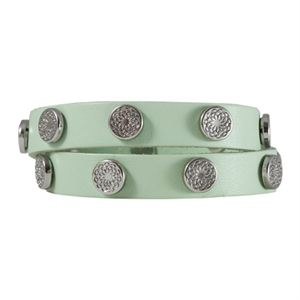 Picture of Mint Leather Wrap with Silver Studs